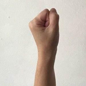 nerve gliding fist with neutral wrist