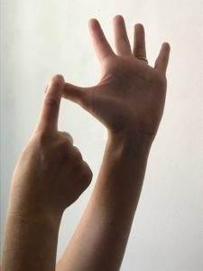 nerve gliding gentle pressure on thumb