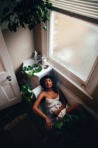 woman in bathroom