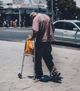 Parkinson's disease walking hunched stooped
