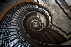 dizziness vertigo spiral stairs